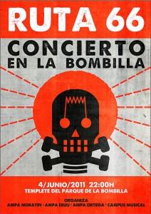 CARTEL BOMBILLA 212x300 Concierto en la Bombilla!!!